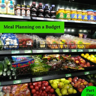 Meal Planning on a Budget, Part One