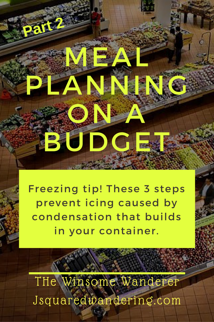 Meal Plan on a Budget Part 2