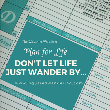 Plan for Life, Don't let life just wander by. The Winsome Wanderer
