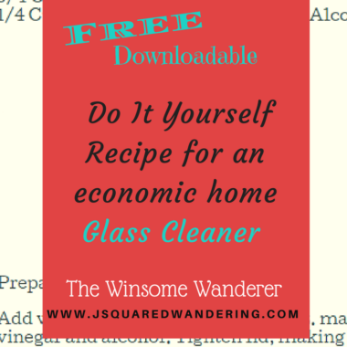 Do It Yourself Economic Glass Cleaner recipe for your home