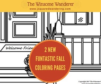 Free Downloadable Fall Porch Coloring Page