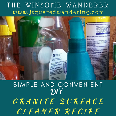 DIY Granite Surface Cleaner (good for just about any surface)